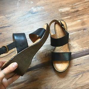 Born- Abigail slingback wedge sandals